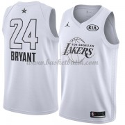 Los Angeles Lakers Kobe Bryant 24# Vit 2018 All Star Game NBA Basketlinne..